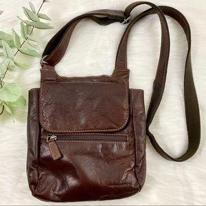 Jack Georges Voyager Slim Crossbody Leather Bag